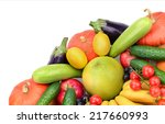 fresh fruits and vegetables... | Shutterstock . vector #217660993