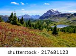 Scenic view of mountains in Banff national park near Egypt lake, Alberta, Canada