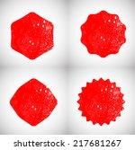 set of grunge rubber stamp  | Shutterstock .eps vector #217681267