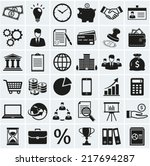 business  finance and marketing ... | Shutterstock .eps vector #217694287