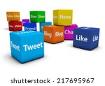 web and internet concept with... | Shutterstock . vector #217695967
