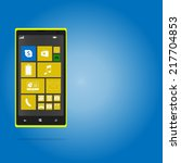 yellow window phone background | Shutterstock .eps vector #217704853