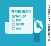 performance evaluation form  | Shutterstock .eps vector #217706527