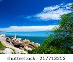beautiful beach and tropical sea | Shutterstock . vector #217713253