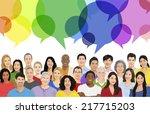 illustration of multiethnic... | Shutterstock .eps vector #217715203