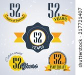 52 years of service  52 years   ... | Shutterstock .eps vector #217721407