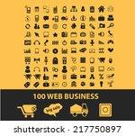 100 web business  ecommerce... | Shutterstock .eps vector #217750897