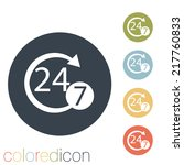 character 24 7 sign. 24 7   Shutterstock .eps vector #217760833
