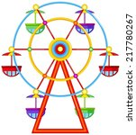 illustration of a ferris wheel... | Shutterstock .eps vector #217780267