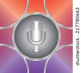 microphone icon. vector button. ... | Shutterstock .eps vector #217780663