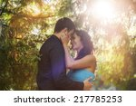 happy smiling couple in love  | Shutterstock . vector #217785253