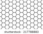 Abstract black and white honeycomb seamless pattern. | Shutterstock vector #217788883