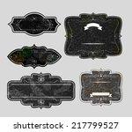 set of vintage labels | Shutterstock . vector #217799527