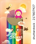 colorful baby shower... | Shutterstock .eps vector #217807927