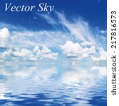 blue sky with clouds. vector... | Shutterstock .eps vector #217816573