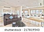 living room in the modern villa | Shutterstock . vector #217819543