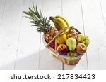 Fruit Basket With Pineapple ...