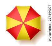 beach umbrella  top view.... | Shutterstock .eps vector #217844077
