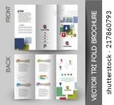 tri fold brochure design... | Shutterstock .eps vector #217860793