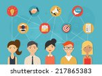 social network and teamwork... | Shutterstock .eps vector #217865383