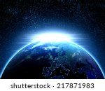 planet earth seen from space... | Shutterstock . vector #217871983