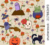 bright pattern for halloween.... | Shutterstock .eps vector #217882693