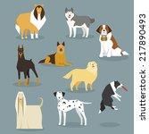 dogs | Shutterstock .eps vector #217890493
