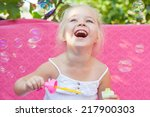 Happy Little Girl Laugh With...