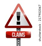 claims warning sign... | Shutterstock . vector #217902067