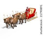 render of santa claus   merry... | Shutterstock . vector #21790891