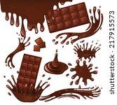 sweets dessert food milk...   Shutterstock .eps vector #217915573