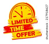 limited time offer with clock... | Shutterstock .eps vector #217918627