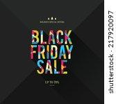 design poster for black friday... | Shutterstock .eps vector #217920097