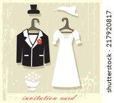 invitation card. picture...   Shutterstock .eps vector #217920817