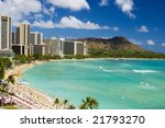 waikiki beach and diamond head  ... | Shutterstock . vector #21793270