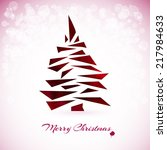 watercolor christmas card with... | Shutterstock .eps vector #217984633