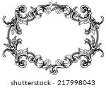 vector floral frame for page... | Shutterstock .eps vector #217998043