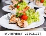 shrimp salad | Shutterstock . vector #218021197