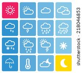 weather icon | Shutterstock .eps vector #218046853