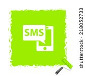 beautiful sms phone web icon | Shutterstock .eps vector #218052733