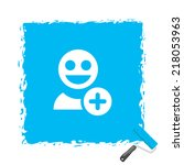 beautiful people web icon | Shutterstock .eps vector #218053963