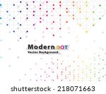 dot network color technology... | Shutterstock .eps vector #218071663