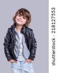 Fashion Little Boy Wearing A...
