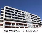 facade of modern apartment... | Shutterstock . vector #218132707