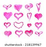 pink heart | Shutterstock . vector #218139967