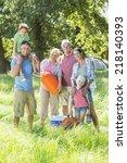 multi generation family... | Shutterstock . vector #218140393