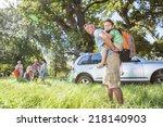 multi generation family... | Shutterstock . vector #218140903