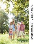 multi generation family... | Shutterstock . vector #218145073