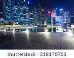 night view of prosperous city  | Shutterstock . vector #218170723