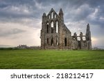 whitby abbey ruins | Shutterstock . vector #218212417